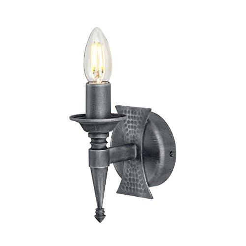 Applique Saxon noir/argent 1 ampoule