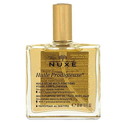 NUXE Huile Prodigieuse – Multifunktions-Trockenöl für Gesicht, Körper und Haar – Alle Hauttypen (1 x 50 ml)