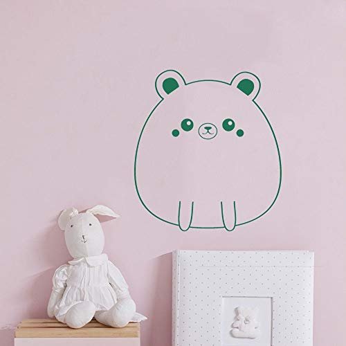 YuanMinglu Netter Bärenkopfkörperwandkunst-Tieraufkleberaufkleber 74x80cm