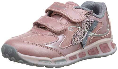 Geox Mädchen J Shuttle Girl A Sneaker, Pink (Rose/Silver Ck81w), 35 EU