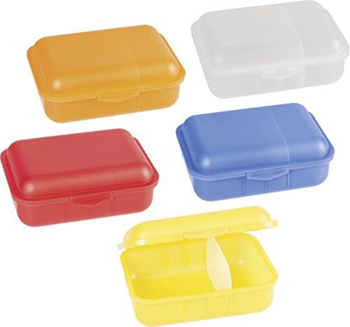 Brunnen 1036650 Brotdose / Allzweckdose (18 x 13 x 6,5 cm, transparent aus PP, spülmaschinengeeignet) 1 Stück - keine Farbauswahl