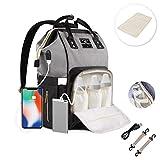 ComfyDegree Baby Wickelrucksack Wickeltasche, Multifunktionale Wasserdichte Babytasche für Mama und...