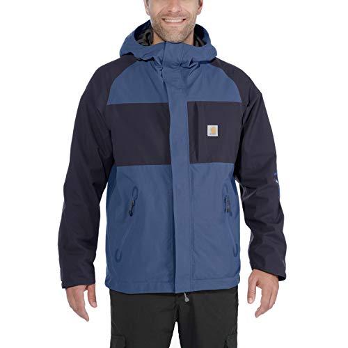 Carhartt Angler Jacket Abrigo, Azul Oscuro/Azul Marino, XL para Hombre