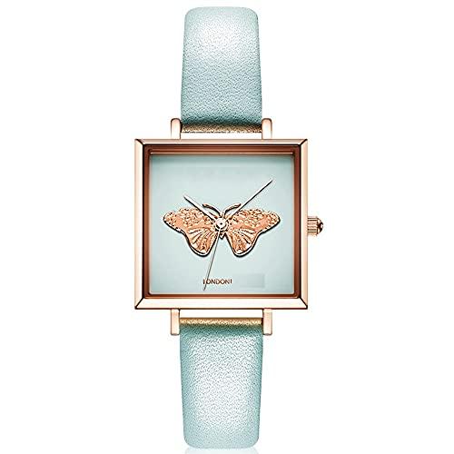 Relojes De Pulsera para Mujeres Temperamento Simple Tendencia De La Moda En Relieve Pequeño Reloj Cuadrado Estilo Retro Movimiento De Cuarzo Mineral Espejo De Vidrio Templado Reloj De Mujer