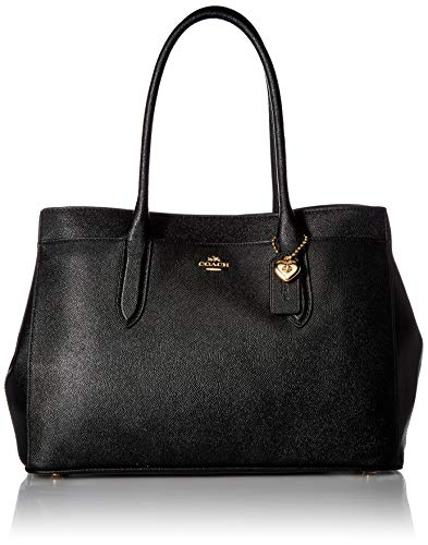 COACH Women's Bailey Carryall in Crossgrain Leather Li/Black One Size