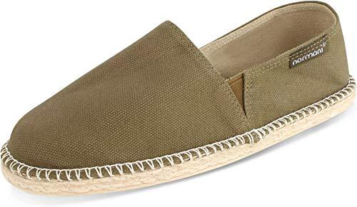 normani Sommerschuhe für Damen | Espadrille mit praktischem Baumwollbeutel Farbe Pacific Green Größe 41