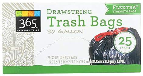 365 Everyday Value, Drawstring Trash Bags (30 Gallon), 25 ct