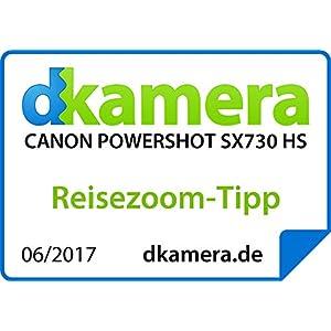 Canon PowerShot SX730 HS Digitalkamera (20,3 MP, 40-fach optischer Zoom, 80-fach ZoomPlus, 7,5cm 7,5cm (3,0 Zoll) klappbares Display, CMOS-Sensor, DIGIC 4+, Full-HD, WLAN, NFC, Bluetooth), schwarz
