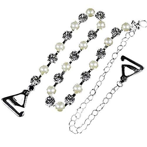 Sexy Strass BH-Träger-Silber überzogene Metallic Für Frauen Elegantes Kristallbüstenhalter-Schulter Wäsche-Zubehör