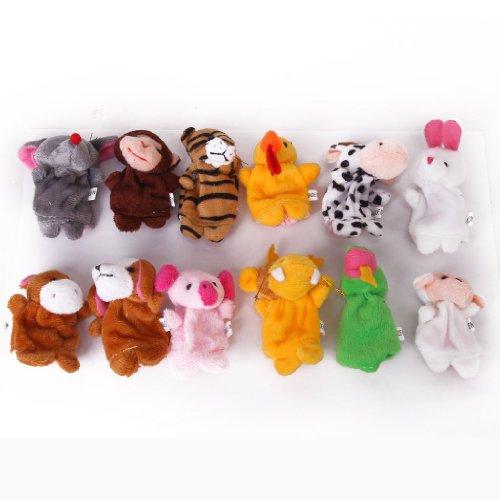 TOOGOOR 12pcs Juguete animal marionetas dedo zodiaco