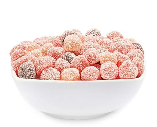 1 x 900g Fruchtgummi saure Fruchtsaft-Johannisbeeren Gummibonbon mit Fruchtsaft von der Roten Johannisbeere aus Fruchtsaftkonzentrat glutenfrei laktosefrei