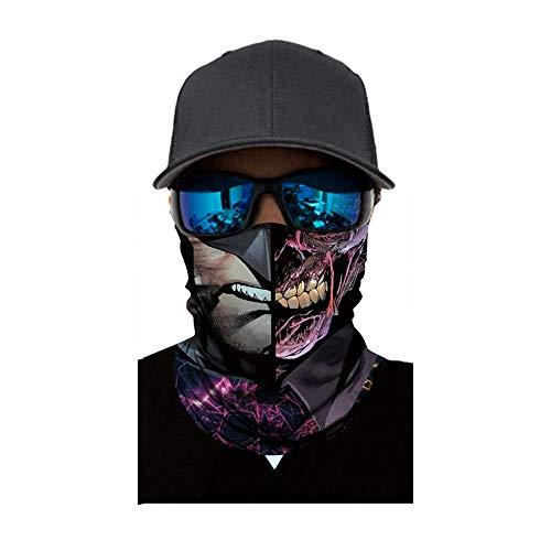 Yowablo Radfahren Motorrad Kopftuch Halswärmer Gesicht Schal Ski Sturmhaube Stirnband (1 PC,2C)
