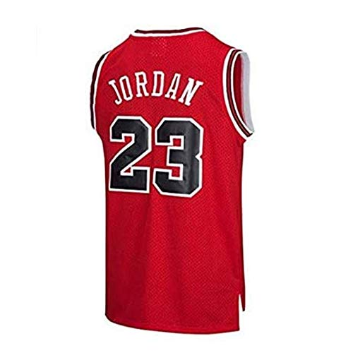 FYPARF Basketball Kleidung Herren NBA Jordan (Michael Jordan) # 23 Chicago Bulls Basketball Trikot Retro Gym Weste Sport Top (Red,S)