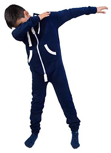 Rock Creek Kinder Jumpsuits Overall Jogger Onesie Jumpsuit Anzug Sportanzug Pyjama Fleecejumpsuit Jungen Mädchen H-138 Navy 98-104