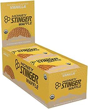 HONEY STINGER Organic Stinger Waffle Vanilla Bar Case 1 OZ