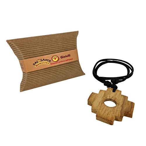 Palo Santo Schmuck Anhänger Chakana – Holzschmuck aus Palo Santo Holz