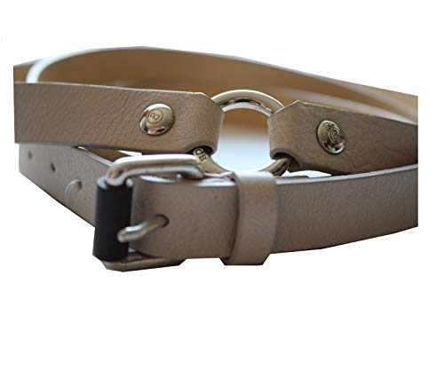 Bogner Damen Leather Gürtel Nr. 0524 Fantasy Gr. 85 Farbe: 184 Stone Hellgrau Breite: ca. 2cm Ledergürtel sehr elegant wird doppelt getragen.