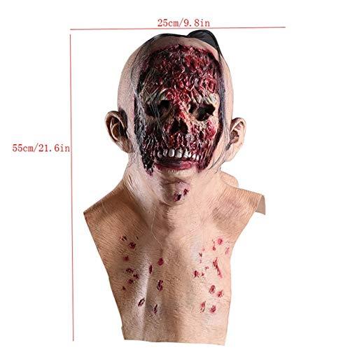WSJDE Enge Halloween Zombie Maskerade mascara terreur Horror Props Enge Masker Cosplay mascara hallowen Spooky Halloween Props