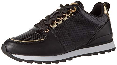 Maria Mare Damskie buty sportowe Nara, czarny - Brina Negro Mirror Champagne Serp Negro Cocus Negro - 39 eu