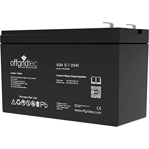 Offgridtec© 7Ah / C10 AGM Solar Batterie für zyklische Anwendungen