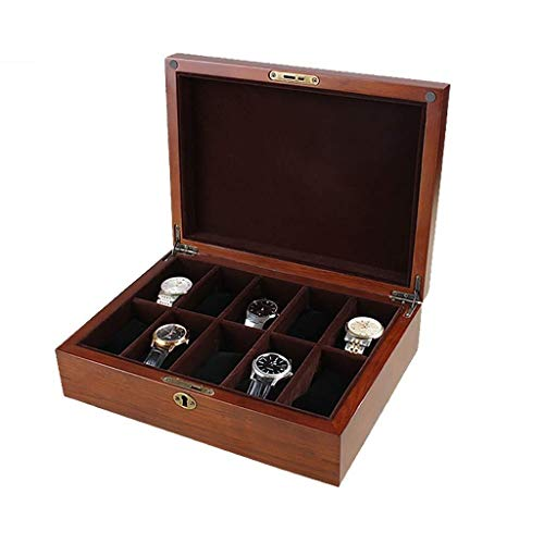 Caja de almacenamiento Cajas De Almacenaje Caja De Madera, Reloj, Soporte De Exhibición/Box Set For Relojes De Joyería, Pulsera Colección De La Caja 10 Cuadrículas Reloj Caja De Presentación