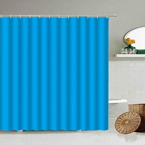 XCBN Cortina de Ducha de Color Degradado Color Puro Mobiliario Simple para el hogar Decoración de baño Cortinas de Tela Impermeables Lavable A9 90x180cm