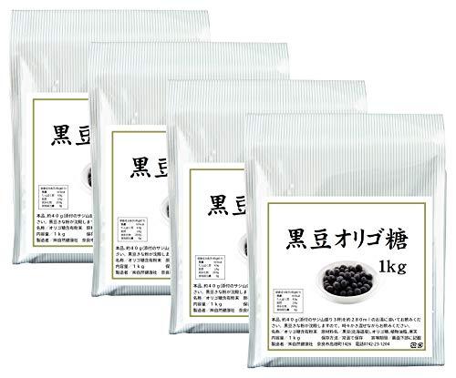 自然健康社 黒豆オリゴ糖 1kg×4個 アルミ袋入り