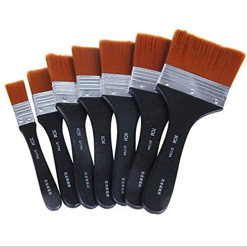 GGLLBL Peinture Pinceau Long Nettoyage Brosse à tête Plate Gouache Peinture Acrylique Peinture Pinceau Huile Pinceau revêtements muraux Art (Color : 5cm)