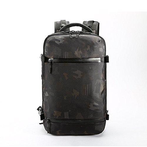 OZUKO バッグパック メンズ シューズ収納 ジム リュックサック 大容量 アウトドア 迷彩 防水 開口