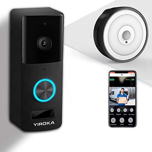 YIROKA Videocitofono WiFi di Sicurezza, Campanello...