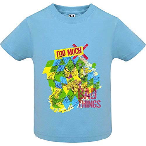 LookMyKase T-Shirt - Bad Things - Bébé Garçon - Bleu - 2ans