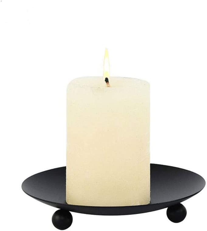 Iron Pillar Candle Holder Multiple Uses Decorative Ca Plate Max 81% Sale Special Price OFF