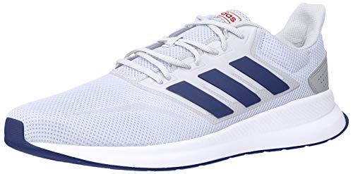 adidas Men's RunFalcon Running Shoe, White/Collegiate Royal/Active Red, 12 M US
