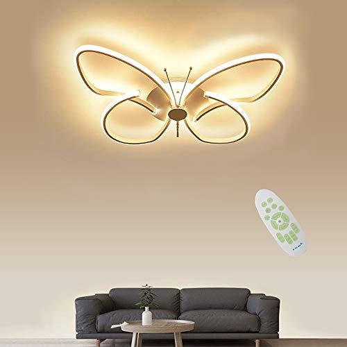 JDMYL 28W Moderne LED Deckenleuchte, 3000~6000k Dimmbar, Kreative Schmetterlings Acryl Deckenlampe, Aluminium Deckenleuchten for Wohnzimmer, Küche, Kinderzimmer, Schlafzimmer [Energie A ++]