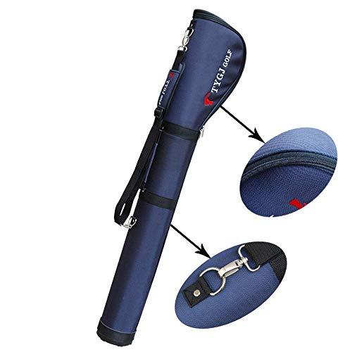 Bolsa de golf LKAIBIN para hombre con soporte de golf, impermeable, tela de nailon, bolsa de golf, ligera, para carrito de golf, color azul, tamaño: 125 x 10 cm.