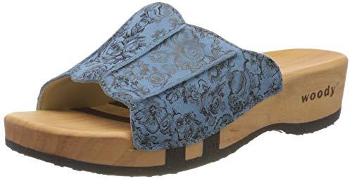 Woody Damen Anna Pantoletten, Blau (Capri 084), 36 EU