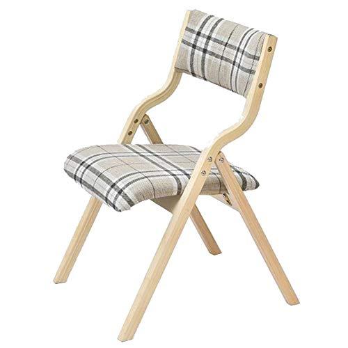 QIDI Chaise Pliante, Simple Chaise Dossier Moderne, Chaise à Manger à Domicile, Chaise de Bureau, Chaise Longue créative (Color : Stripes)