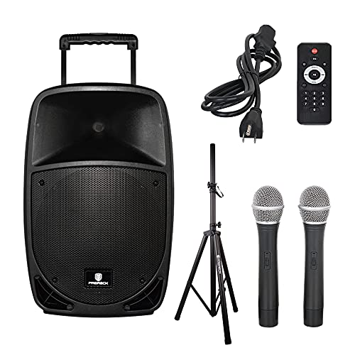 PRORECK FREEDOM 15 Portable 15-Inch 800 Watt 2-Way Rechargeable Powered Dj/PA Speaker System with...