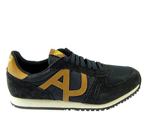 Emporio Armani, Herren Sneaker , grau - grau - Größe: 45 EU