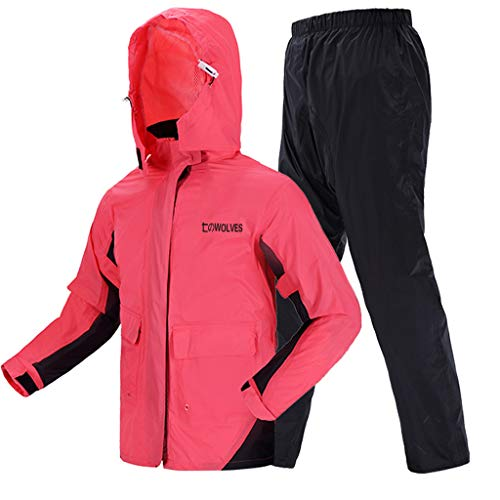 Soul Case Regenanzug Damen Regenmäntel Wasserdicht Fahrrad Jacke mit Kapuze Running Regenjacke Windbreaker Ultralight Packable Pink, xxl