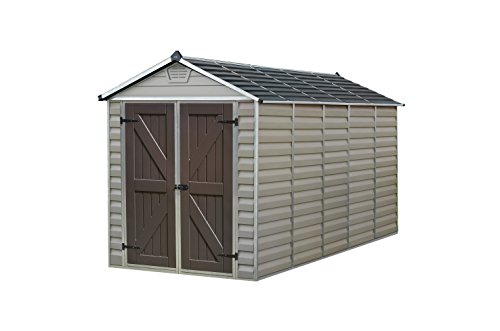 Palram Skylight Storage Shed - 6' x 12' Tan