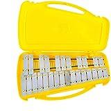 27 note xilofono metallofono, tasti colorati, percussioni ritmo musicale strumento educativo giocattolo, con 2 mallets custodia palmare per bambini