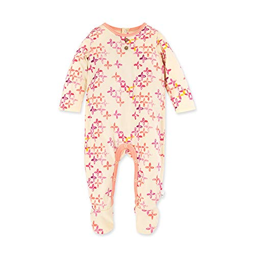 Burt's Bees Baby Baby Girls' Romper Jumpsuit, 100% Organic Cotton One-Piece Coverall, Sweet Floret, 3-6 Months