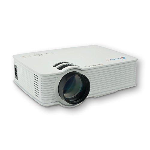 MediaLy GX90 LED Beamer Projektor Heimkinoprojektor Mini Videoprojektor Video Projektoren Videoprojektoren HD ready 3DHDMI HD Heimkino 800 Lumen in Weiß