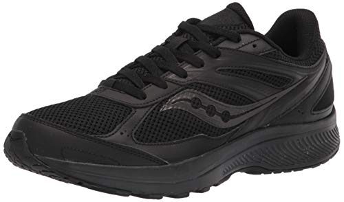 Saucony Women's Cohesion 14 Road Running Shoe, Black/Black, 5.5