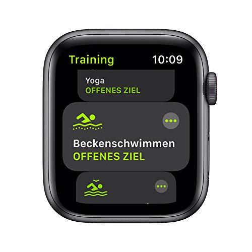 2020 AppleWatch SE (GPS+ Cellular, 44mm) Aluminiumgehäuse Space Grau, Sportarmband Schwarz
