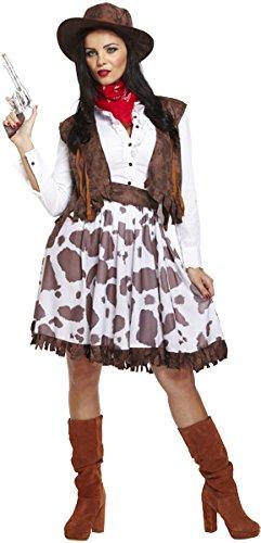 Emmas Garderobe Cowgirl Kostüm für Frauen - Jessie Outfit UK Größe 8-16 (Women: 42, Costume)