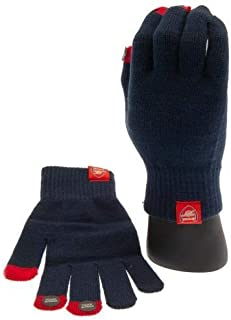 Arsenal FC Adult Knitted Gloves - Touchscreen Compatible - Authentic EPL