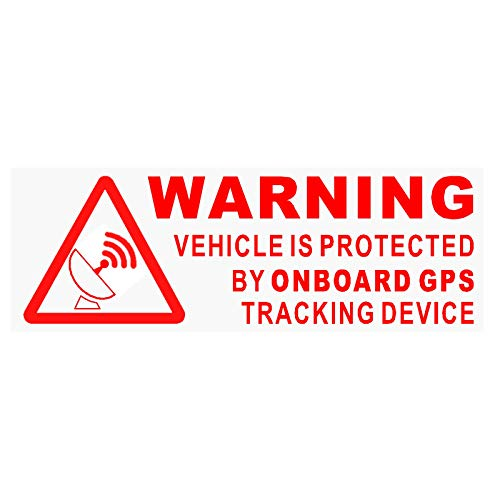 5x Warning On Board GPS dispositivo de seguimiento stickers-red clear-car, Van, barco, señal, seguro, Seguridad, Protección, seguridad, alarma, Dash, aviso, disuasión, protección, seguridad, seguro