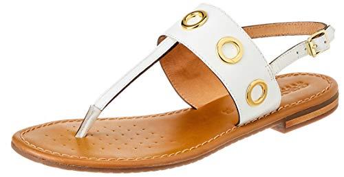 Geox D SOZY S I, Slide Sandal Donna, menta bianca, 36 EU